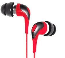 HEADFUNK HFE343R RED Badass Earbuds - Sno! Zone Extreme Earphones /Brand New