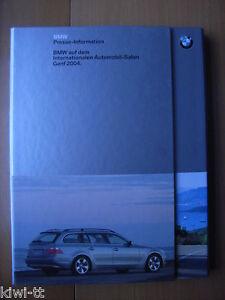 BMW auf dem Internation. Automobil-Salon Genf 2004, Pressemappe / Press-kit, D