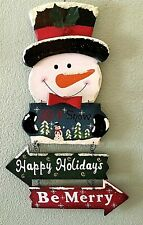 Really Nice Vintage Christmas Frosty The Snowman Wall Hanging