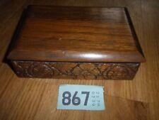 vintage carved wooden box