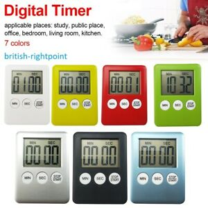 Digital Kitchen Timer Magnetic Large LCD Count-Down Up Clock Cooking Loud Alarm