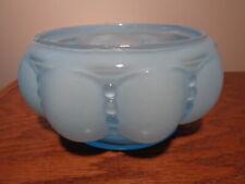 Vtg. Fenton Beaded Melon Rib Blue Candy or Vanity Bottom Only