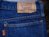 MENS PREOWNED LEVI JEANS  535  - W30  L31  - ZIP FLY - DENIM  BLUE