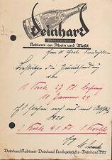 KOBLENZ, Postkarte 1928, Deinhard Kabinett Lila Hochgewächs Sekt-Kellerei