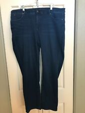 Talbots Flawless Five-Pocket Straight Leg Jeans Plus 20W Dark Wash High Rise