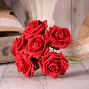 24 Luxury Artificial Foam Tea Rose Flowers - Bouquet Wedding Party