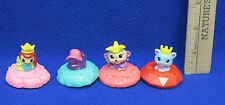 Squinkies McDonalds Toys 2012 Bunny No 4 Girl Purple Monkey Blue Cat Lot of 4