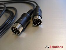 1 Mtr. - BeoLab Speaker Cable for Bang & Olufsen B&O PowerLink Mk2 (Black, HQ)