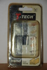 "T-Tech, Trend TT14 ¼"" Shank 12.7mm Straight Router Bit New and Sealed"
