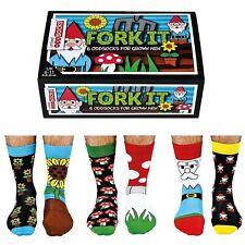 United Oddsocks Fork It Set Of 6 Odd Socks For Men Gift Box Size UK 6 - 11