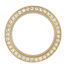 Origami Owl Large Gold Twist Face w/Swarovski Crystals For Living Locket New!