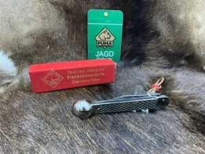 Pre 64 Puma Fishing Knife With Leather Cord - Mint In Puma Factory Red Box