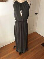 City Triangles Maxi Dress Halter Army Green Silky Macy's NEW $44 2X Plus Size