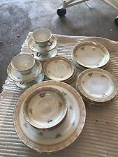 MEITO CHINA VINTAGE HAND PAINTED 35PCS