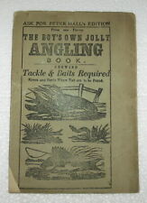 Antique 1870's The Boy'S Own Jolly Angling Book vintage fishing booklet