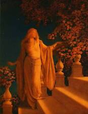 "VINTAGE Maxfield Parrish Poster Print ""INCANTO (o Cenerentola)"""