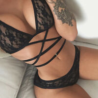 Floral Lace Bralette Bustier Crop Top Sheer Soft Mesh Triangle Unpadded Bra Hot