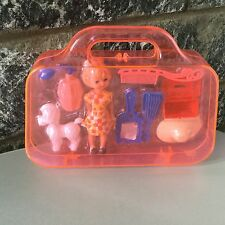 vIntage#70s Little Doll With Dog# Playset With Case #Rare