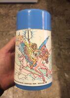 Vintage She-Ra Princess Lunch Thermos Blue 1985 80's Cartoon Shera Lunchbox