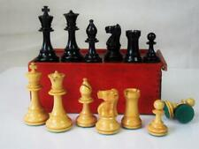 VINTAGE CHESS SET LED WEIGHTED STAUNTON PATTERN K 87 mm ORIG  BOX - NO BOARD