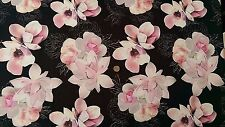 Best Quality Stretch Poly Lycra Scuba Fabric/Material - Large Pink Floral Print