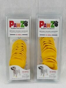 PawZ Protex Dog Boots Water-Proof Paws Disposable Reusable XX-Small - Lot of 2