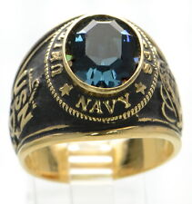Made in USA Men's US Navy Gold Plated Military Size-11 '