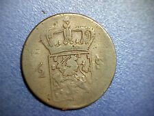 1823S Netherlands East Indies 1/2 Stuiver - VF