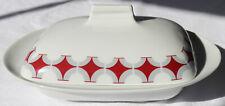 Butterdose Porzellan Mitterteich Glocke Deckel Dose Art Deco Bavaria 50er 60er