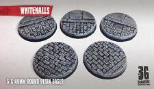 Whitehalls 5 x 40mm round resin cobblestone bases