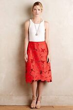 Anthropologie Women's Lace CYNTHIA ROWLEY  Bouquet Skirt Size 6