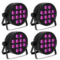 4 Pcs RGBW Led Par can Uplights Stage Lighting DMX512 Controlled DJ Party lights