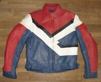 """"""" POLO """" Damen-  Motorrad - Kombi- Lederjacke / Biker- Jacke blau- rot ca. 42"""
