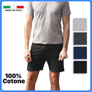Pantaloncino uomo cotone leggero palestra sportivi running tuta pantaloni corti