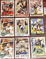 frmr Green Bay Packers NFL football auto autograph 9 card LOT Jordy Nelson +more