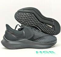 Nike Zoom Winflo 6 4E Wide Mens Running Training Gym Triple Black BQ9685-004 NIB