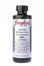 Angelus Roll Call Military Shoe & Boot Heel Edge Dressing Black 4oz W Applicator