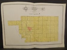 Illinois Christian County Map Buckhart Township c1930 Double Page W20#25