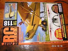 RC Pilot n°118 Plan encarté Morane H / Piper J3 Spacewalker Ka3 Rearwin Speedste