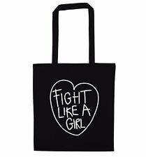 Pelea como una chica, Bolso Guantes De Boxeo Lucha Libre Deporte Gimnasio Anillo feminista 5230