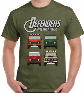 Defender T-Shirt Assemble Mens Funny 90 110 140 4X4 Parody Land Rover SVX