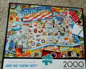 Buffalo Games 2000pc Puzzle ARE WE THERE YET? Road Trip Excellent Condition