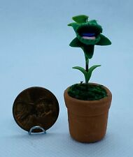 Dollhouse Miniature Man Eating Plant - 1:12 Scale