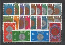 GUERNSEY 1979 COINS SG,177-198 U/M LOT R637