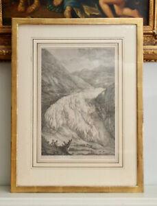A Late c18th Engraving, 'Vue de Le Glaciere au Grindelwald' circa 1780