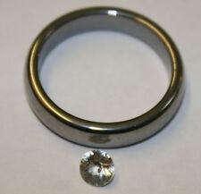 Natural white Sapphire loose gemstone 4.5mm round 0.45ct faceted gem saf02B