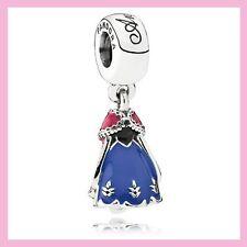 Disney Princess Frozen Anna Dress Pandora Charm Bracelet Bead NEW!