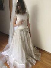 Vintage 60's Bon Marche Wedding Sz 2-4 Dress Lace Zombie Bride Costume