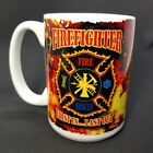 Firefighter 15 ounce Ceramic Coffee Cup First In Last Out Maltese Cross