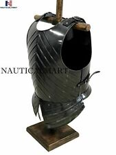 Medieval Dark Black Knight Armor Breastplate Cuirass Epic Dark Wearable costume